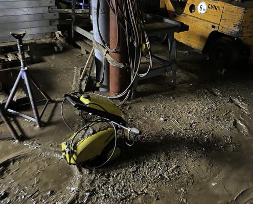 Bilder der Verwüstung in einem Betrieb in Bad Münstereifel